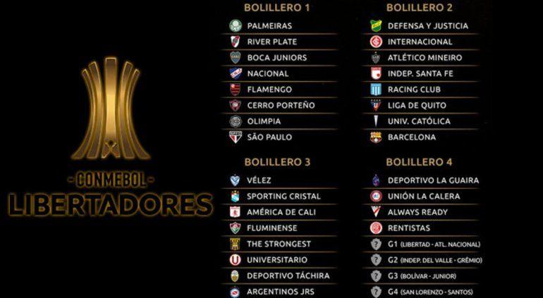 River y Boca ya conocen a sus duros rivales en la Libertadores