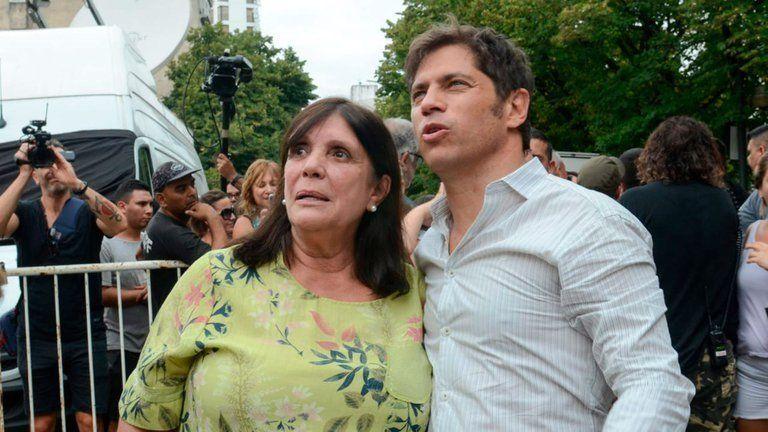 Teresa García, la ministra de gobierno de la provincia de Buenos Aires y Axel Kicillof.