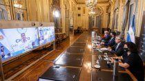 el presidente se reune con gobernadores para analizar la situacion epidemiologica