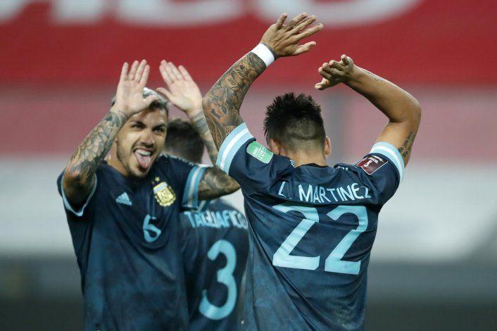 Eliminatorias: Argentina le ganó a Perú y cierra el 2020 en el segundo puesto