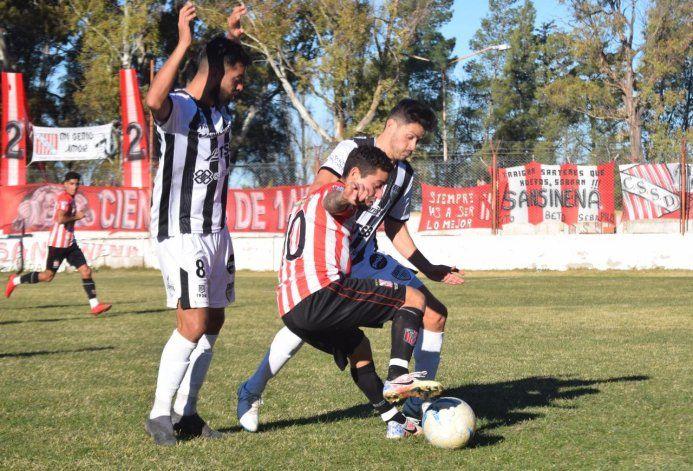 El partido se hizo trabado y Cipo rescató un punto (gentileza Nestor Cañiuqueo).