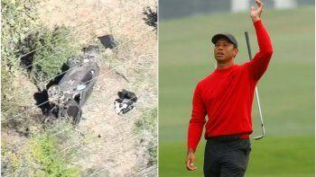 drama: tiger woods sufrio un grave accidente