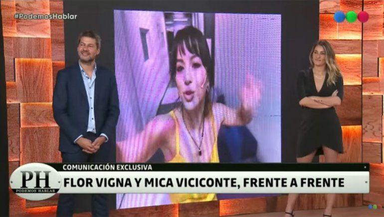 Mica Viciconte charló con Flor Vigna en PH Podemos Hablar | Foto: Captura Telefe