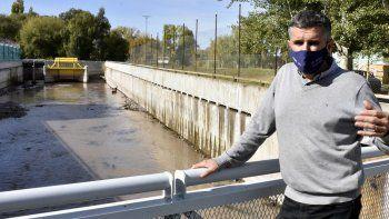 las obras en el arroyo duran estan con un 35% de avance