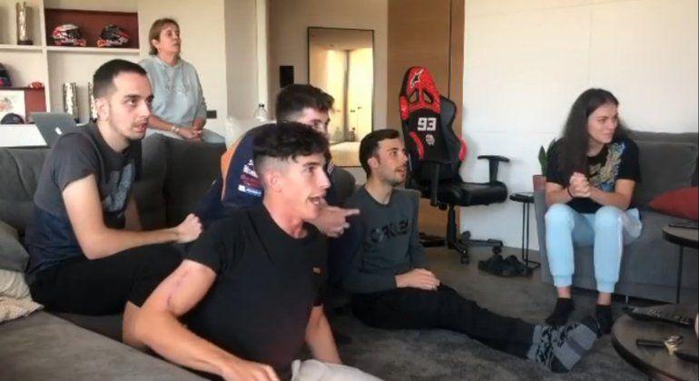 Marc Márquez mostró en sus redes cómo vivió el Gran Premio de Aragón de MotoGP en el que su hermano Alex culminó segundo con la Honda.