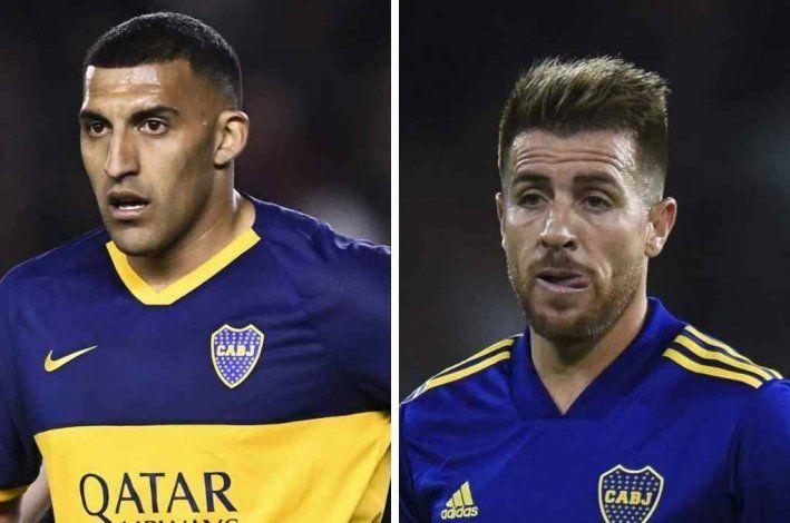 Wanchope Ábila y Buffarini, dos de los jugadores que dejarían Boca
