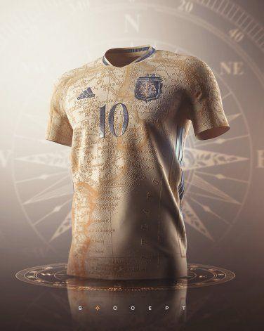 El diseño de la camiseta de la selección que causó rechazo en las redes sociales.
