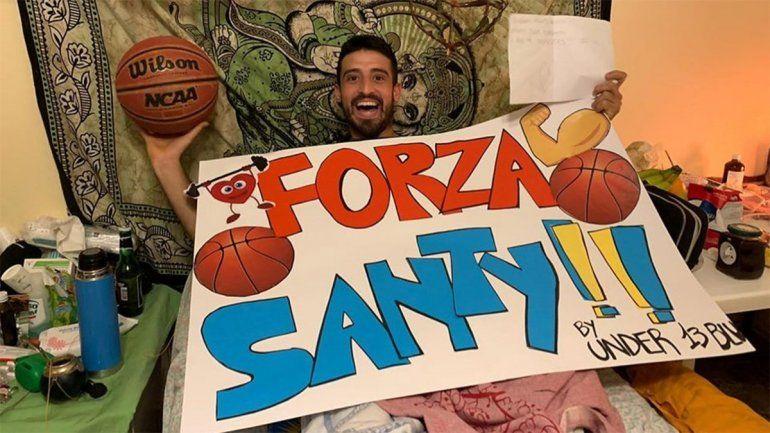 El basquetbolista neuquino Santi Rodríguez la pasó mal pero salió adelante.