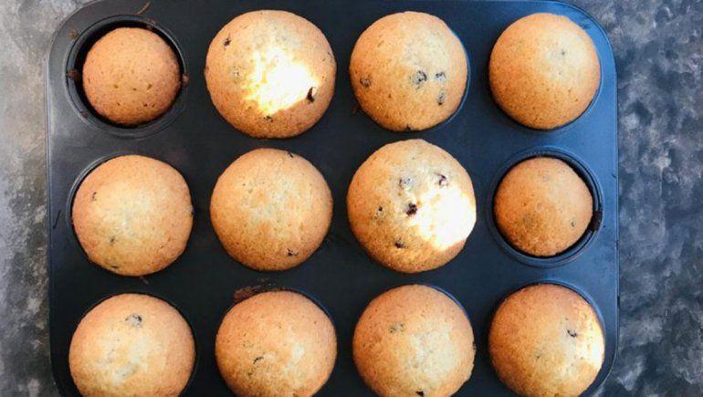 Muffins de chocolate y coco deliciosos