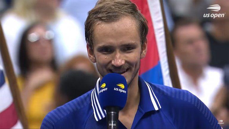 El romántico mensaje de Medvedev tras ganar el US Open