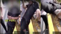 el video de tiktok que repudio todo peru: tiraron de un puente a un joven