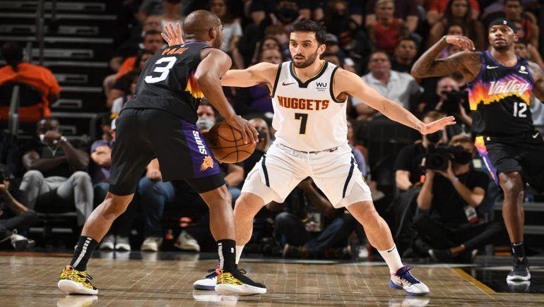 Los Nuggets de Campazzo sufrieron una paliza ante los Suns