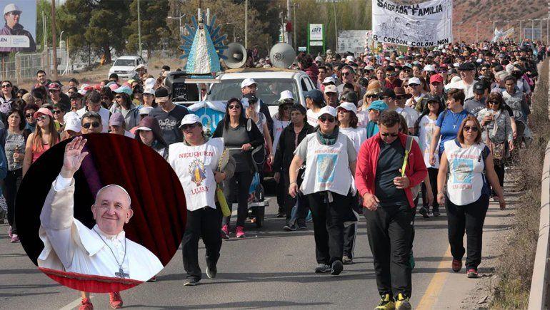 Peregrinación a la Virgen de Lujan: el Papa le envió un mensaje a los vecinos de Centenario