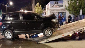 La camioneta fue secuestrada tras el trágico hecho.