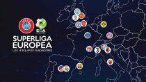 guerra a la uefa y escandalo: anuncian la creacion de la superliga europea