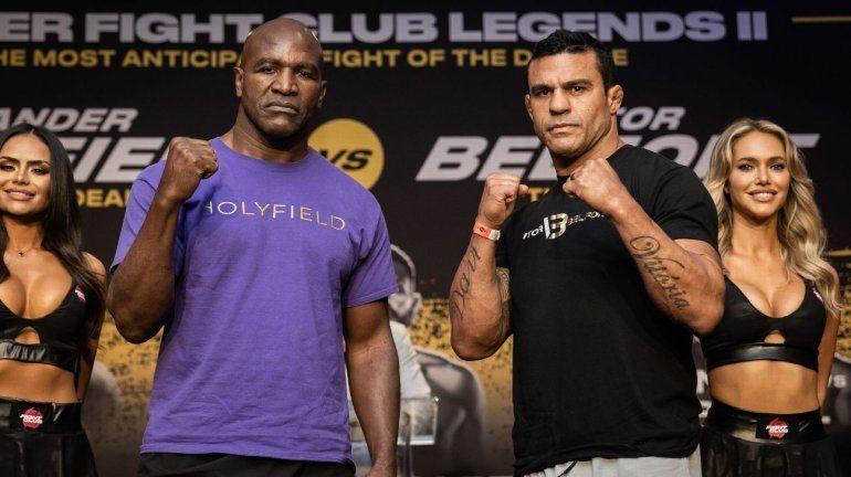 Holyfield, leyenda de los pesados vs el ex campeón UFC Belfort: Hora y TV