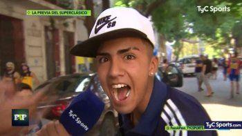 Fanático de Boca, gritó frente a las cámaras: Vamos River