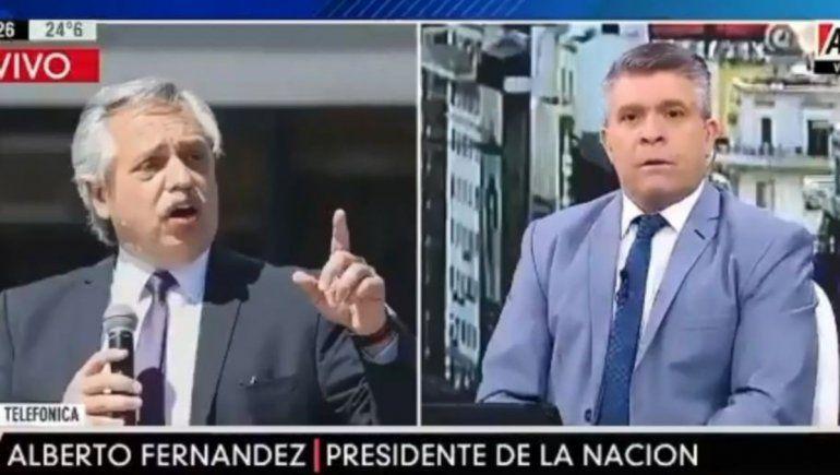Tenso cruce: Alberto Fernández mandó al psicólogo a un periodista por la inseguridad