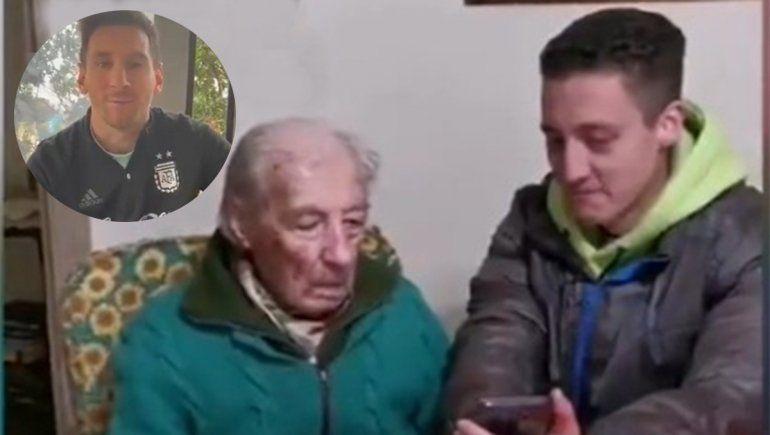 Messi sorprendió a un fanático de 100 años que anota todos sus goles en hojas