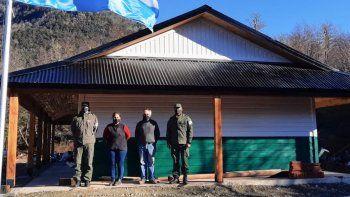 paso carirrine: mejoran instalaciones a gendarmes