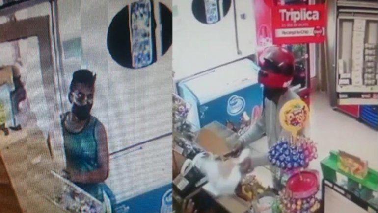 Armados robaron un kiosco, quedaron filmados y los atraparon