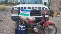las perlas: secuestran moto robada y plantas de marihuana