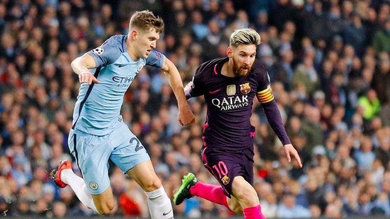 La Pulga Messi en acción ante el City. ¿Jugará allí?