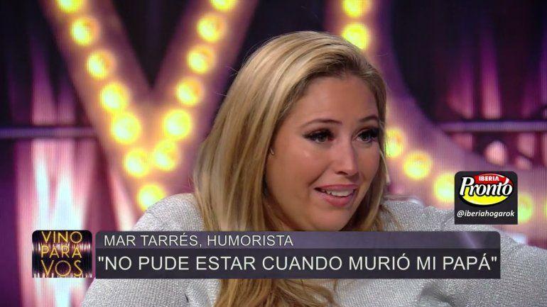 Mar Tarrés lloró al hablar de la muerte de su papá: Me dijeron que estaba intubado, pero era mentira