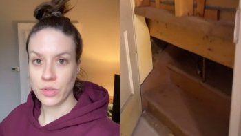 TikTok: se mudó a una casa de 148 años de antigüedad y descubrió un pasadizo oculto