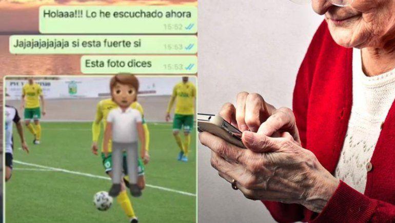 Twitter: abuela se asombró al ver fotos del novio futbolista de su nieta.