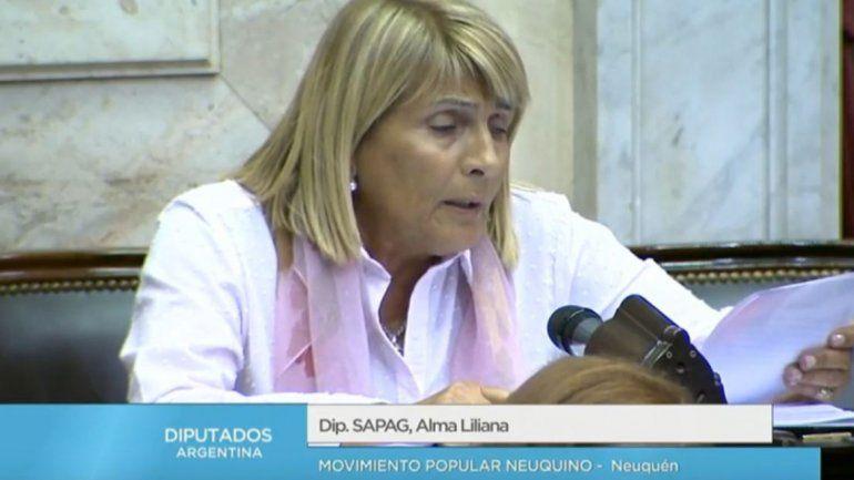 Chani Sapag fue una de las diputadas que votó en contra del proyecto oficialista.