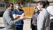 koopmann recorrio las obras de un nuevo centro de tratamientos oncologicos