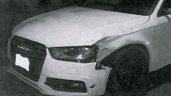 Así quedó el auto del defensor de Boca tras el choque.