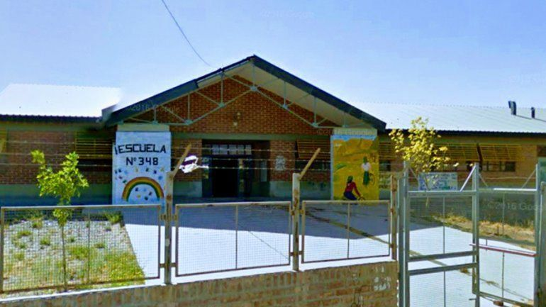 La escuela 348 de Neuquén.