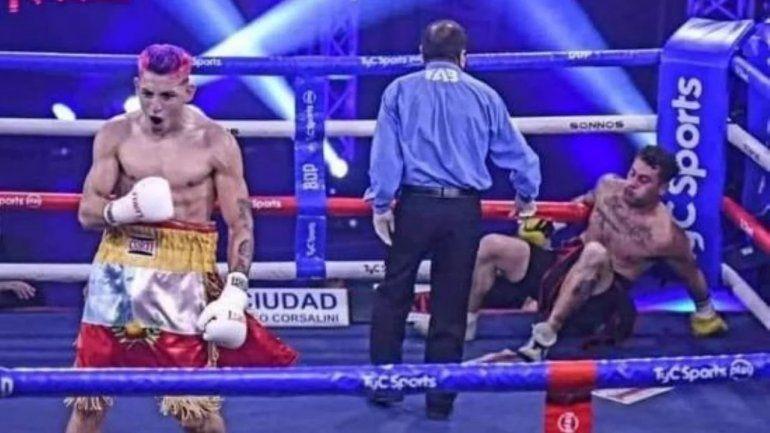 Birra y show: pelean Sansón y Pacman Corzo, noqueadores invictos
