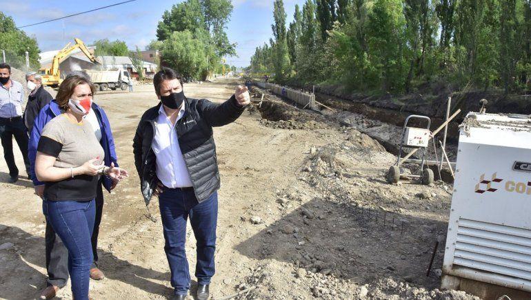 La pavimentación de Valentina Norte está en un 80%