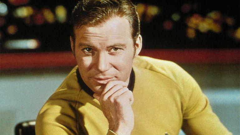 Shatner en el papel del capitán Kirk.