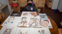 tiene 12 anos y con sus dibujos organiza campanas solidarias