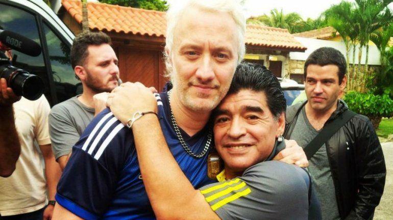 Andy Kusnetzoff y Maradona tuvieron muchos momentos inolvidables en TV.