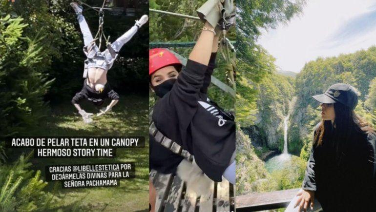 En tetas al aire libre, hermosa experiencia: el blooper de Sofi Morandi en La Angostura