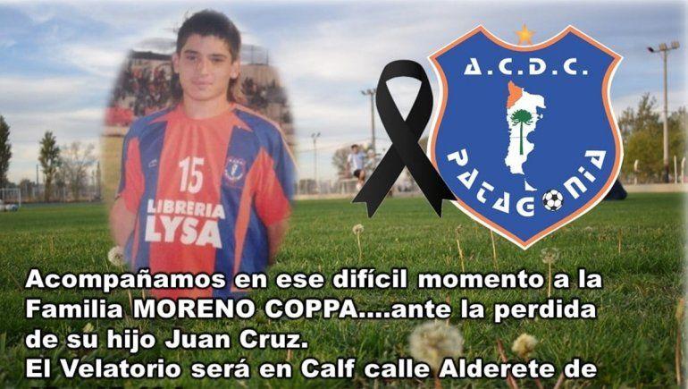 Dolor en Patagonia por la muerte de Juancito, ex del club y también piloto