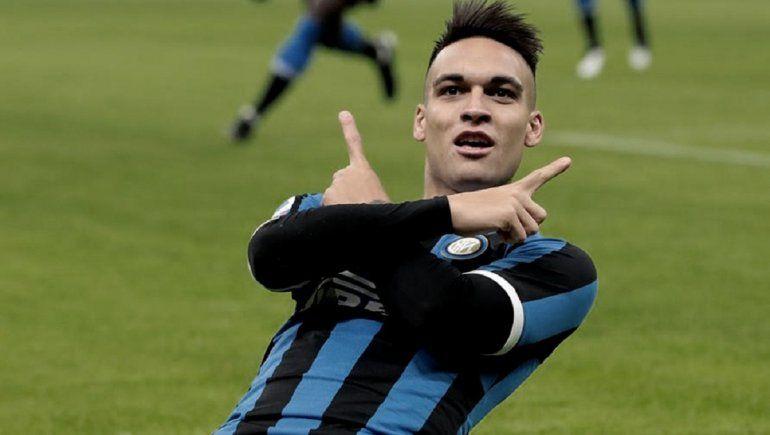 Lautaro Martínez cerró la goleada del Inter en Serie A