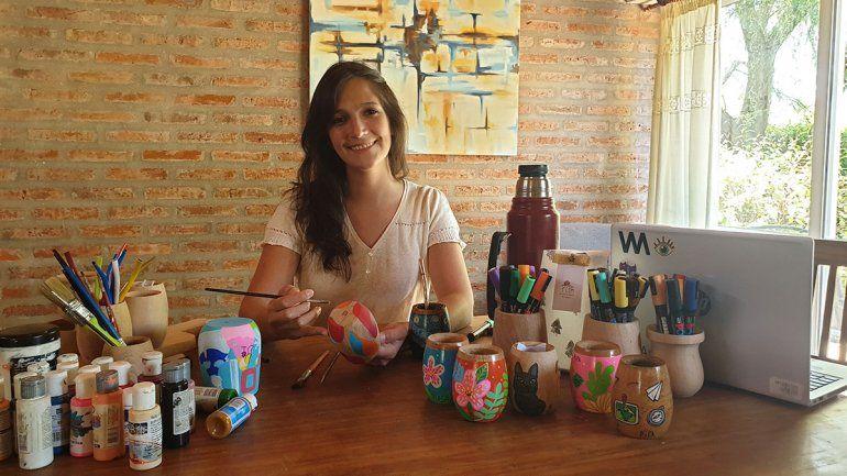 La emprendedora que llenó los mates de arte, diseño y color