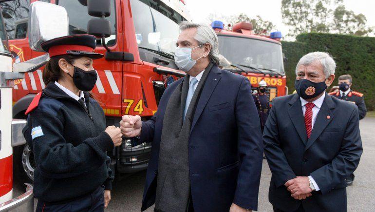 El Gobierno les sumó recursos a los bomberos