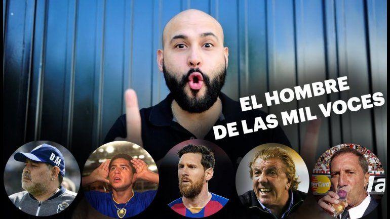 Imperdible: el Pato Muzzio imitó de corrido a los personajes del fútbol en F90