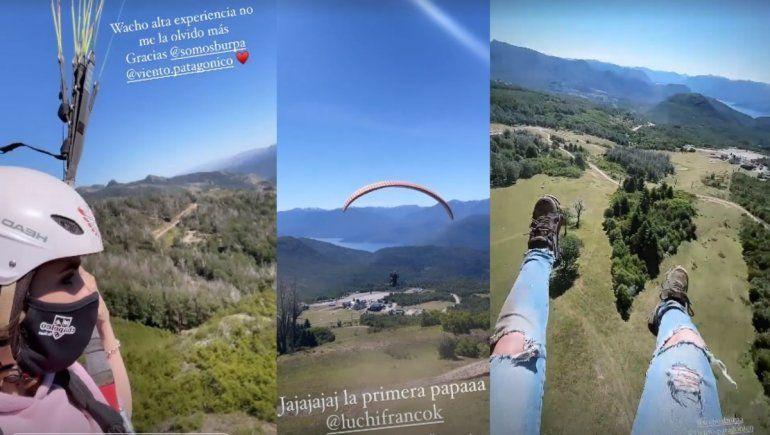 San Martín desde el aire: la adrenalínica aventura en parapente de Sofi Morandi