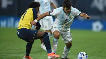 Acuña en acción ante Ecuador. ¿Estará contra Bolivia?