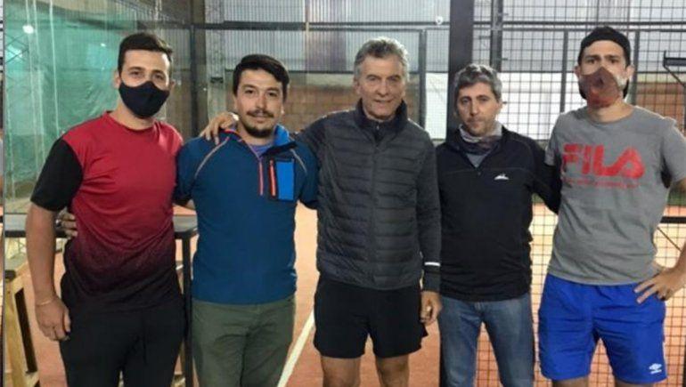 Macri deslumbró al paddle en San Martín de los Andes