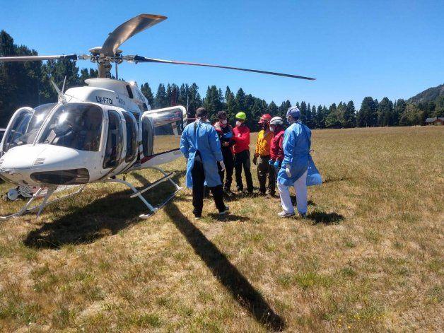 Este fue el tercer rescate en el Lanín desde el inicio del nuevo año