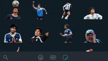 Ya están disponibles los stickers de WhatsApp del Pelusa | Foto: Captura WhatsApp